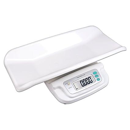 S/O® Báscula digital XL para bebés, hasta 20 kg, con bandeja