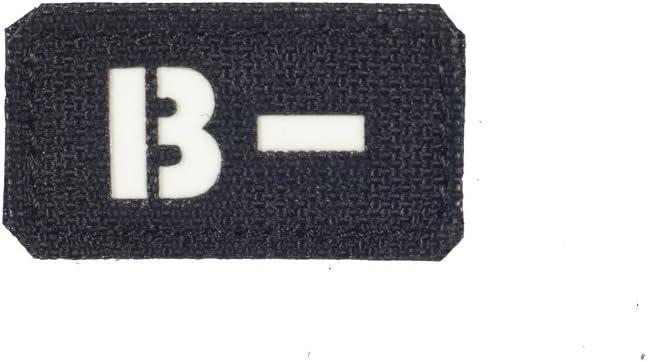 Tipo de sangre B negativo B- parche cortado con láser Militar Táctica moral Velcro, Black - GITD: Amazon.es: Deportes y aire libre