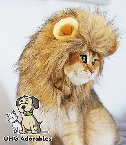 OMG Adorables Lion Mane Costume for Cat 24