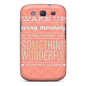 New Arrival Wake Up And Do Something Wonderful PteRotH6075QXDEQ Case Cover/ S3 Galaxy Case