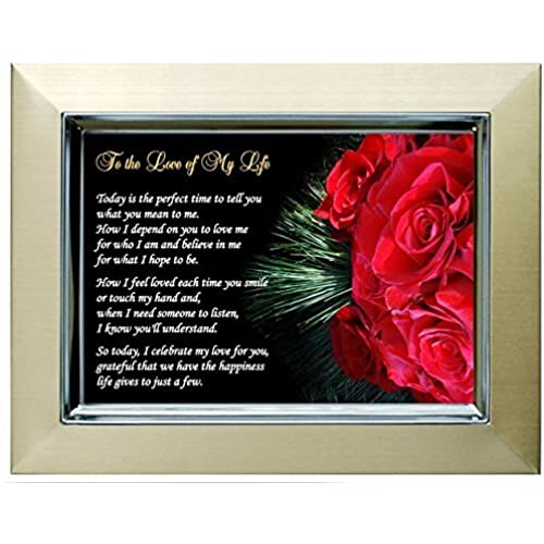 Gift for Wife, Husband, Girlfriend or Boyfriend - Love of My Life Poem - Christmas, Anniversary or Birthday Sales