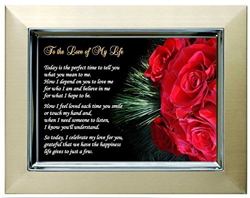 Gift for Wife, Husband, Girlfriend or Boyfriend - Love of My Life Poem - Christmas, Anniversary or Birthday