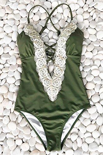 91b284cf489 Cupshe Fashion Women's Ladies Vintage Lace Bikini Sets Beach ...