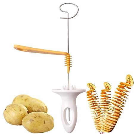 Zxlife At Potato Spiral Cutter Slicer Spiral Chips 4spits
