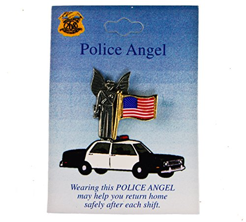 Police Hat Pin (Police US Flag Guardian Angel Hat Lapel)