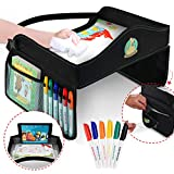 Flash Sale!! Play Tray Kids Travel Tray with Dry Erase Top for Snacks & Car Activities for Toddlers - Dry Erase Markers Gift - Child Car Seat Tray for Travel by Car and Plane | Road Trip Essential