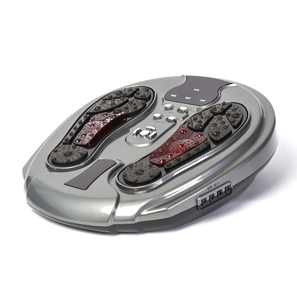 リモコン 電気フットマッサージャーサイレントパルスマッサージ、リモートコントロール機能、赤外線機能、足の痛みを和らげるための切り替え可能なディープニーディング インテリジェント, Gray B07TXJPP42