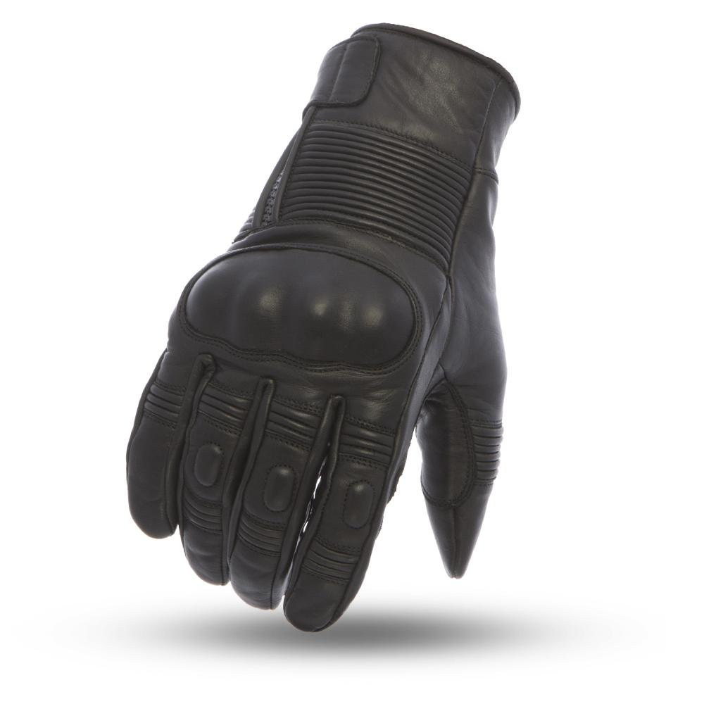 First Manufacturing Mens Cascade Leather Motorcycle Gloves (Black,Large),1 Pack B078YNB65C