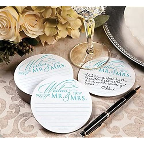 Wedding reception decor amazon wedding wishes advice coasters for wedding receptions and bridal showers set of 100 junglespirit Gallery