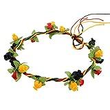 Multicolor Handmade Flower Garland Halo For Wedding Flower Wreath Decorations Prettymenny (A)