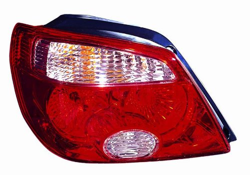 Depo 214-1992L-AQVR Mitsubishi Outlander Driver Side Tail Lamp Assembly with Bulb and Socket