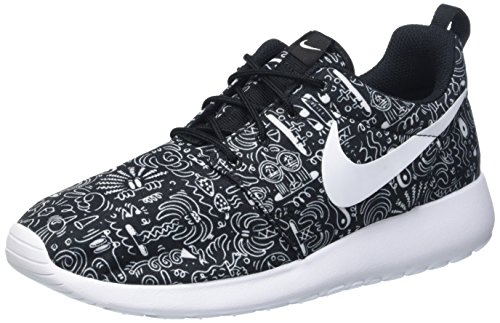 Nike Damen Wmns Roshe One Print Prem Trainingsschuhe, M Multicolore (Nero/Bianco)