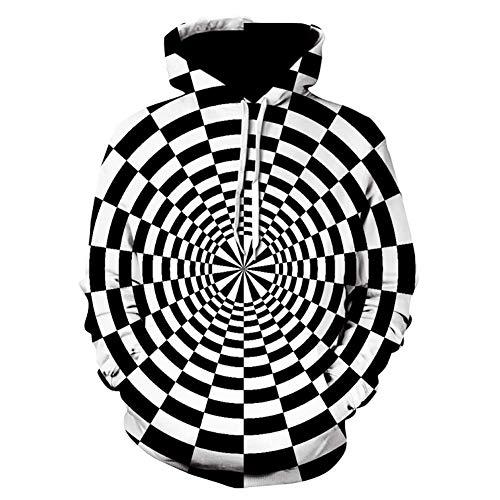 Tsipe Vortex Hoodies Sweatshirt Men Women 3D Hoodie Whirlpool Print Funny Hip Hop Tracksuit Streetwear