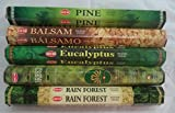 Hem Incense Pine Balsam Eucalyptus Forest First Rain 5 x 20, 100 Sticks