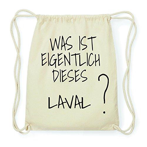 JOllify LAVAL Hipster Turnbeutel Tasche Rucksack aus Baumwolle - Farbe: natur Design: Was ist eigentlich
