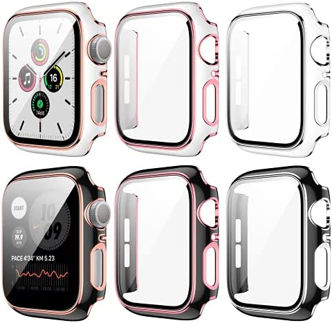 6 Pack Case for Apple Watch 44mm Series 6/5/4/SE...