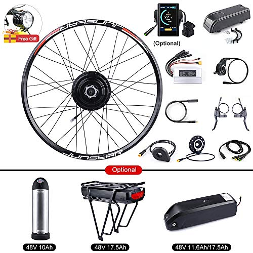 BAFANG Bike Conversion Kit 48V 500W Rear Hub Motor for Bicycle 20 26 27.5 700C Rear Wheel Kit with PAS LCD Display Ebike Battery and Charger