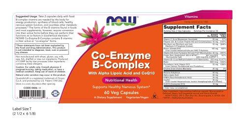Now Co-Enzyme B Complex, 60 Veg Capsules