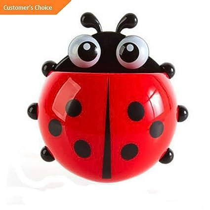Amazon.com: Hebel Cute Ladybug Sucker Toothbrush Holder ...