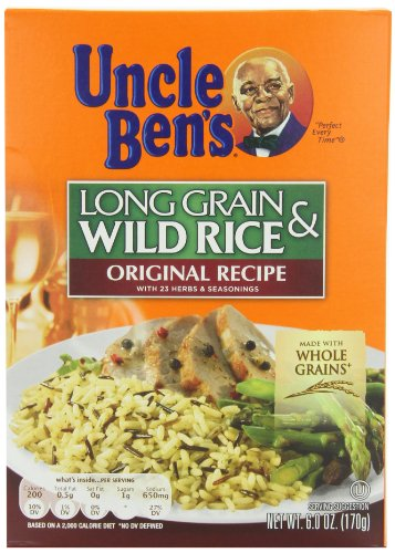 Uncle Ben's Long Grain & Wild Rice, 6-Ounce Boxes (Pack of 12) by Uncle Ben's