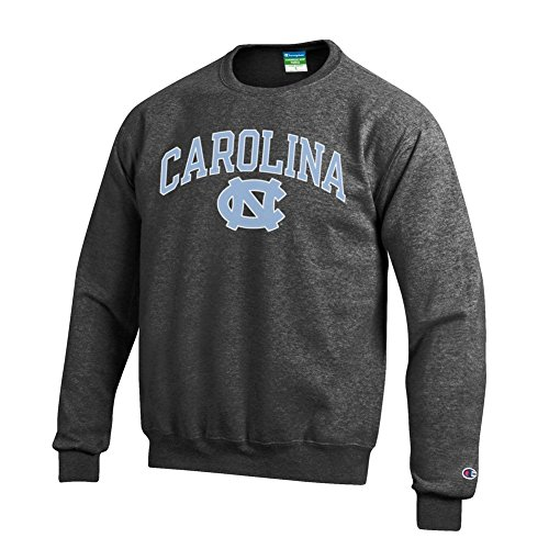 Elite Fan Shop North Carolina Tar Heels Crewneck Sweatshirt Varsity Charcoal - L