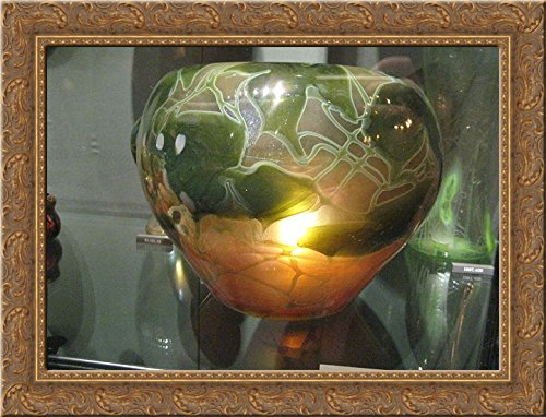 Favrile Vase 24x18 Gold Ornate Wood Framed Canvas Art by Louis Comfort Tiffany ()