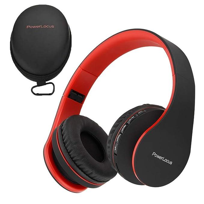 5c7f1b3c9f3 Amazon.com: PowerLocus Wireless Bluetooth Over-Ear Stereo Foldable ...
