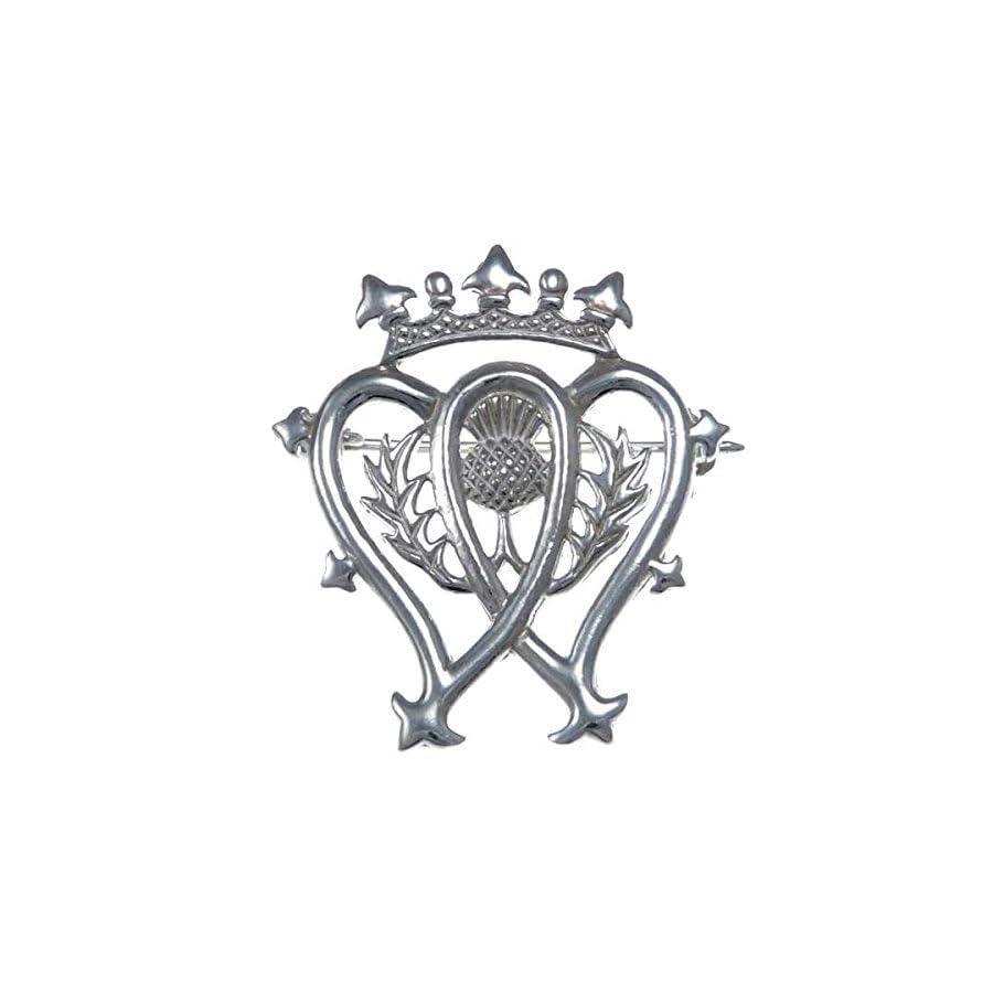 Sterling Silver Luckenbooth Brooch Scottish Pin