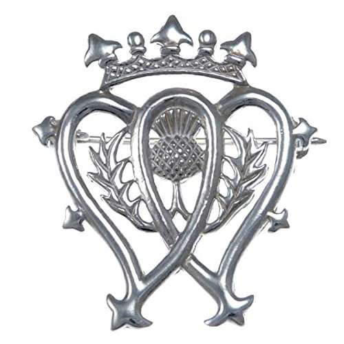 Sterling Silver Luckenbooth Brooch Scottish Pin