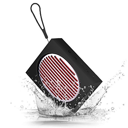 Sport Wireless Speaker Bluetooth 4.2, Waterproof IPX5 Portable Speaker with Power Bank for Indoor/Outdoor, Shockproof, Perfect Compatible for iPhone/iPod/iPad/Phones/Tablet (Black)