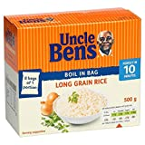 Uncle Ben's Boil in Bag Long Grain Rice (8x62.5g) - Pack of 2