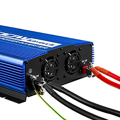 Kinverch 2000W Pure Sine Wave Power Inverter Converts12V DC to 110V AC with USB Port: Car Electronics