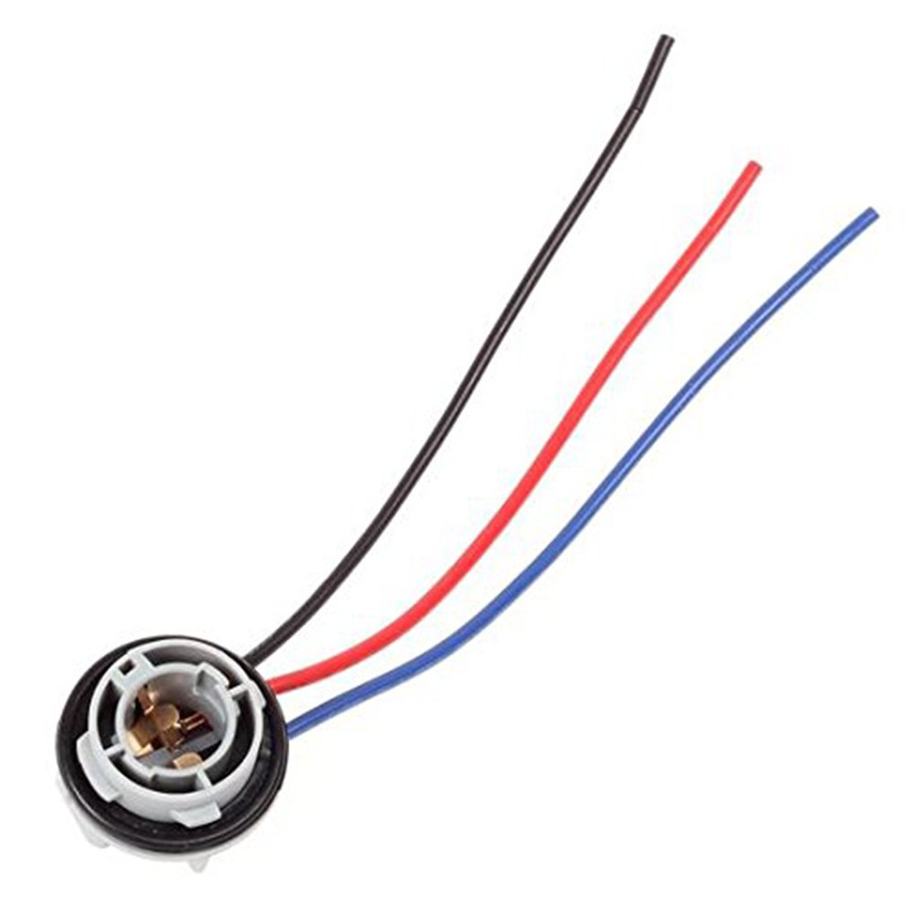 Idyandyans 1157 2057 2357 Replacement Plug-in Light Bulb Extension Sockets LED Bulb Connector Wired Tail Brake Light