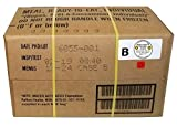 MRE 2019 Inspection Date Case, 12 Meals with 2019 Inspection Date, 2016 Pack Date. Military Surplus Meal Ready to Eat. (B-Case)