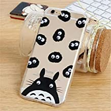 French Fries Popcorn Black Cat Banana Donuts Totoro Printing Googly Moving Eyes Acrylic PC Back with Soft TPU Edges Case Cover for Apple iPhone 5/5S(Totoro)