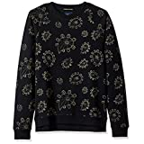 Scotch & Soda Men's Crew Neck Sweat with Allover Paisley Print, Combo a, Large
