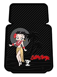 Betty Boop Aloha Style Universal-Fit Molded Front Floor Mats - Set of 2