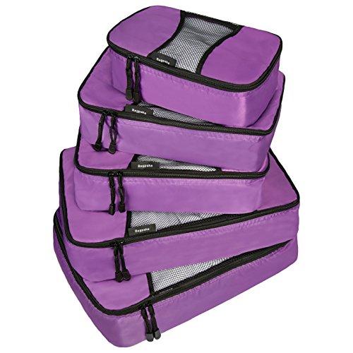Bagpake 5 Set Packing Cubes-Travel Luggage -2 Extra large,2 Medium,1 Small (Rubix Cube Storage Bag)
