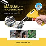iMakcc Soldering Gun, Manual Soldering Tool to Improved Repair Board Tin Feeding Structure (Yellow)