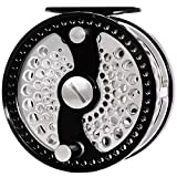 Cheap CHANNELMAY Classic Fly Fishing Reel 7/9 WT CNC Machined Aluminum Large Arbor Disc Drag System Salmon Fishing (Left)