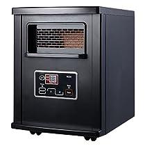 Black Portable Electric Infrared Quartz Space Heater Remote 1500W + eBook