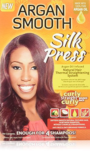 Argan Smooth Silk Press Natural Hair Thermal Straightening System