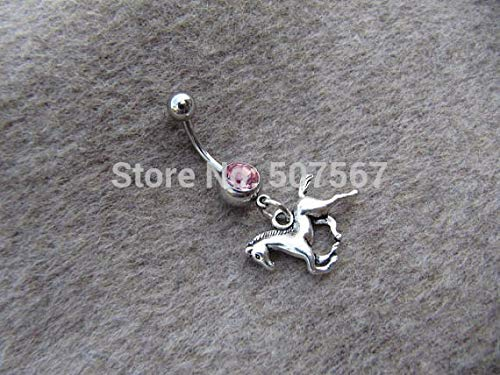 Ancient Silver Cute Horse Belly Button Jewelry Ring,Belly Button Jewelry,Summer Jewelry,boy Gift ()