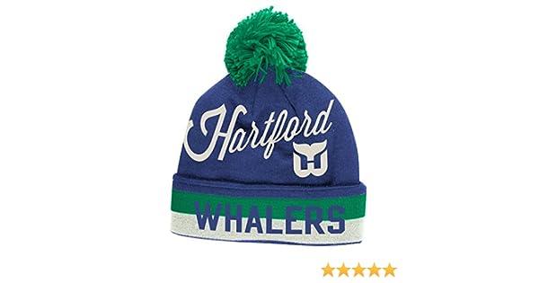 fdd2c79066e Amazon.com   Hartford Whalers CCM Throwback NHL Cuffed Knit Hat w  Pom    Sports   Outdoors