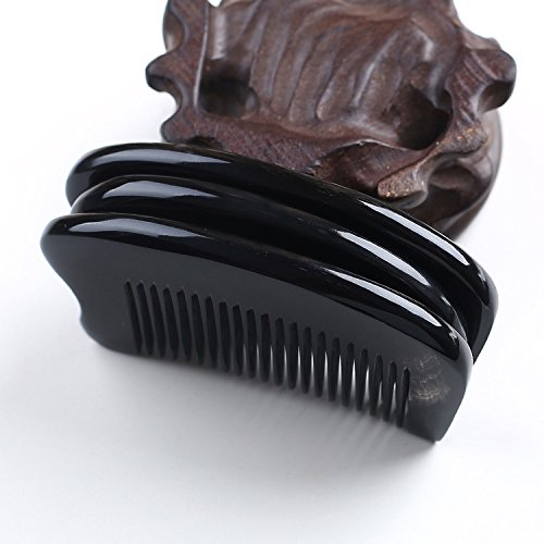 GuiXinWeiHeng £¨3pcs£Natural black horns comb portable pocket comb handmade horns massage comb by GuiXinWeiHeng