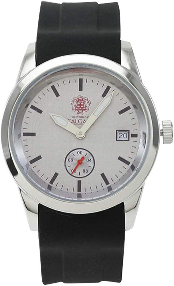 Relojes Calgary Premium Manhattan. Reloj Gama Premium cronógrafo de Hombre con Correa de Silicona Negra y Esfera Color Gris.