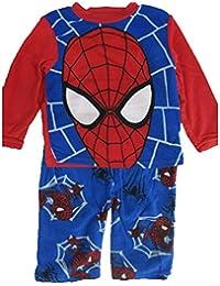 Little Boys Blue Red Spiderman Logo Print 2 Pc Pajama Set 4-6