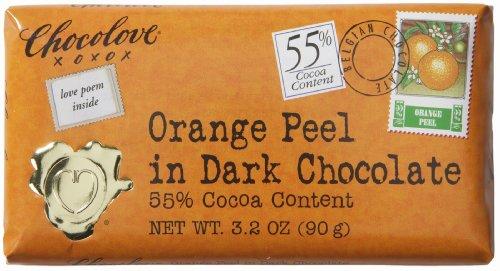 Chocolove, Orange Peel in Dark Chocolate, 3.2 oz