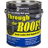Sashco Through The Roof Sealant, Brush Grade, 1 Gallon Container, Clear (Pack of 1)