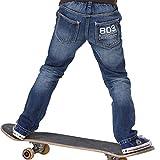 Leo&Lily boys'Husky Elastic Waist Durable Print Denim Jeans (10)